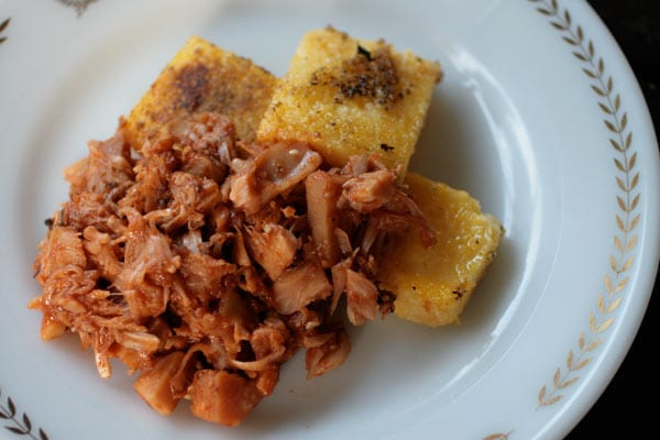Pulled BBQ Jackfruit & Fried Polenta Recipe | Your Daily Vegan