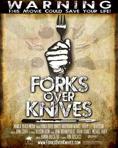Cover for the film, Forks Over Knives.