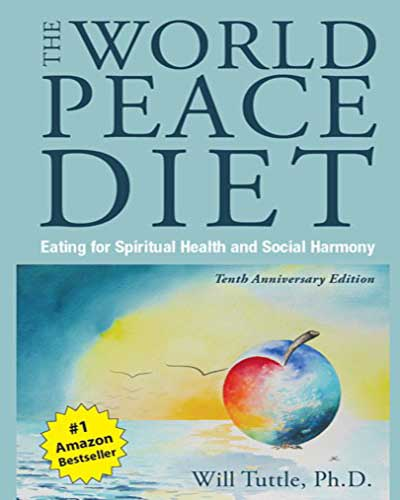 The cover of the book The World Peace Diet.