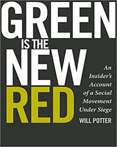 Cover for the book Green is the New Red. Cover features a grey background with white and gold lettering.