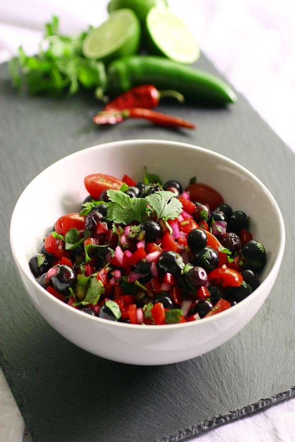 Spicy Blueberry Salsa Your Daily Vegan