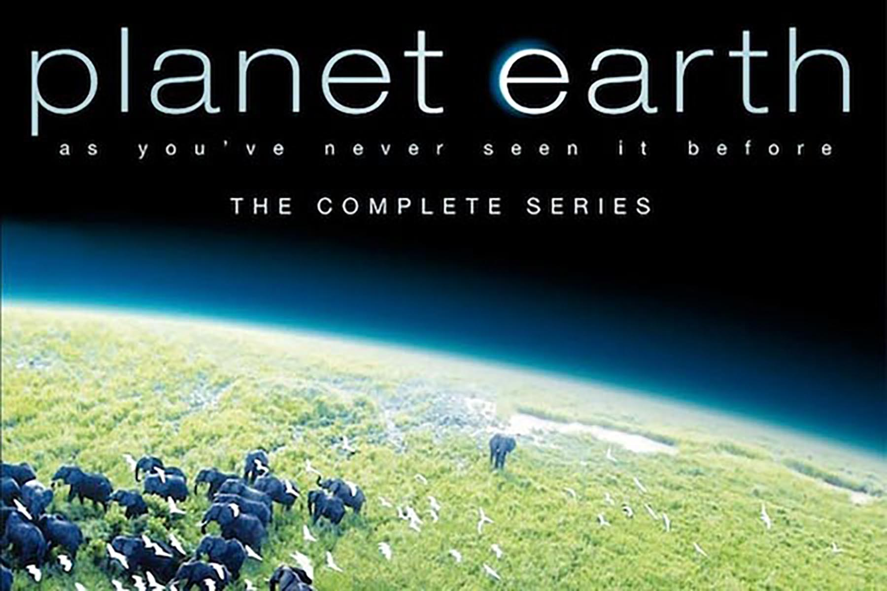 Cover for the TV series, Planet Earth, featuring picture of the earth from space.