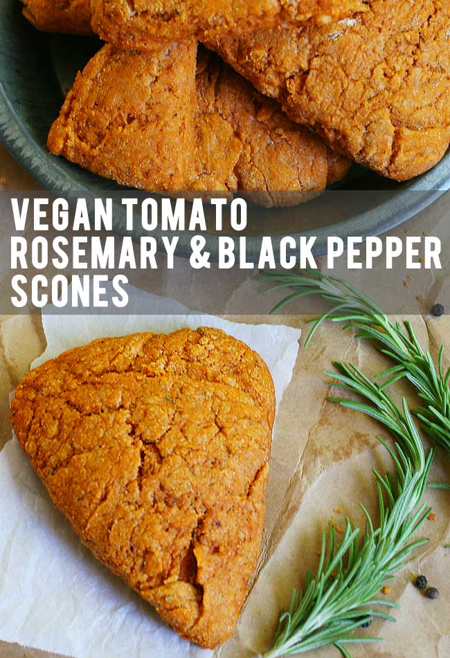 Vegan Tomato Rosemary & Black Pepper Scones Recipe | Your Daily Vegan
