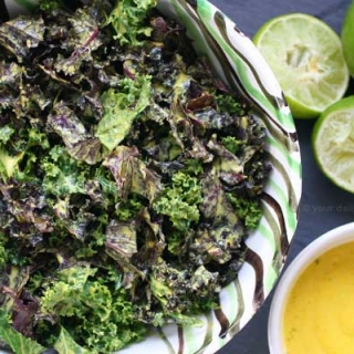 Massaged Kale Salad with Turmeric-Tahini-Lime Dressing