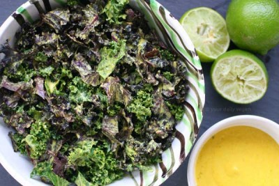 Massaged Kale Salad with Turmeric-Tahini-Lime Dressing Recipe | Your Daily Vegan