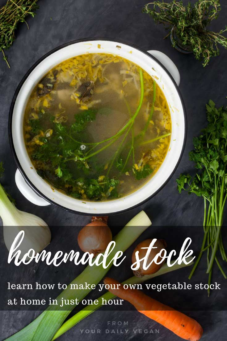 How to make homemade vegetable stock | Your Daily Vegan