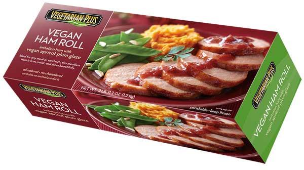 Vegetarian Plus Vegan Ham Roll | Best Vegan Meat Alternatives for Thanksgiving | Your Daily Vegan