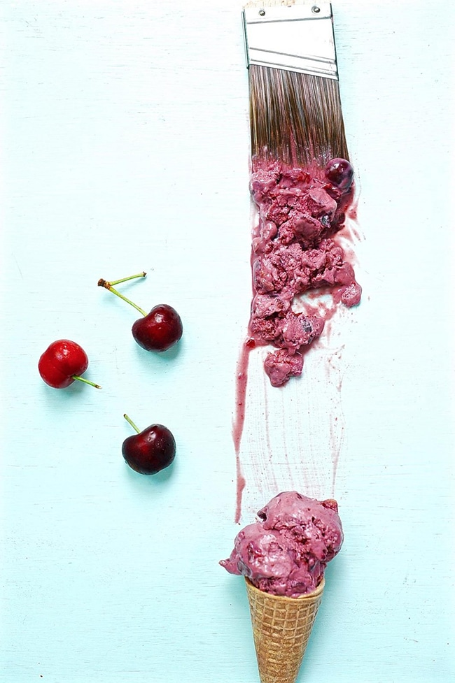 Fresh Cherry or Blueberry Vegan Ice Cream Recipe - Vegan Ice Cream Guide - Your Daily Vegan