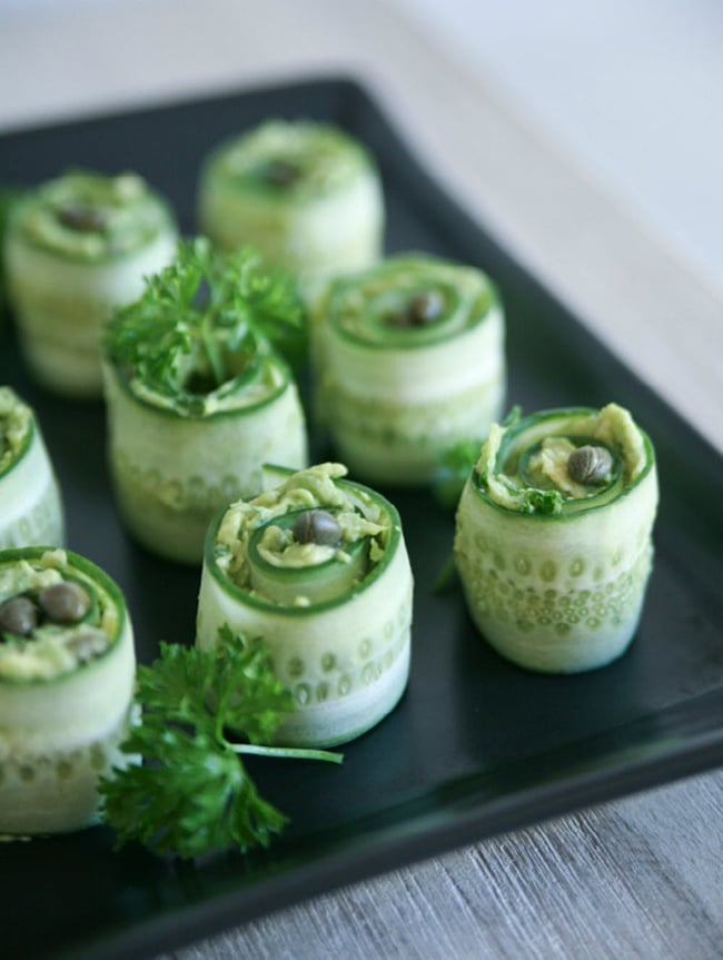 Cucumber Rolls with Creamy Avocado Recipe from Pure Ella - Vegan Thanksgiving Guide - Your Daily Vegan