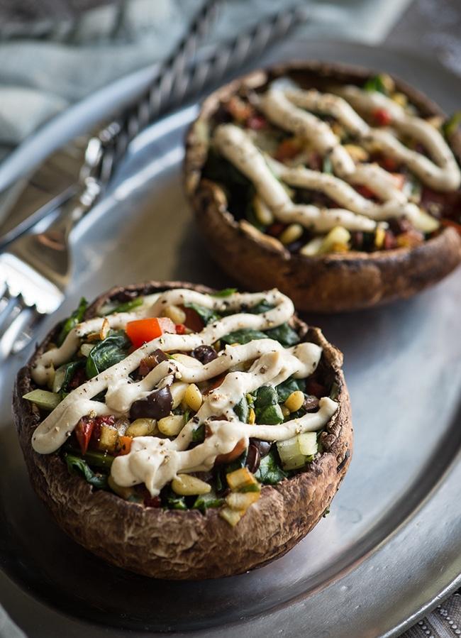 Raw Stuffed Mushroom Recipe from Rawmazing - Vegan Thanksgiving Guide - Your Daily Vegan