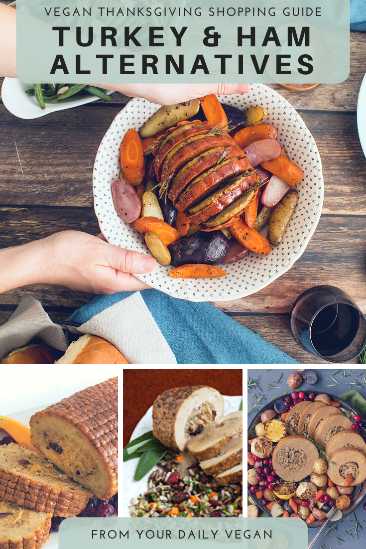 A collage of meat alternatives.