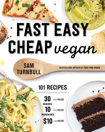 Cover for the book, Fast Easy Cheap Vegan